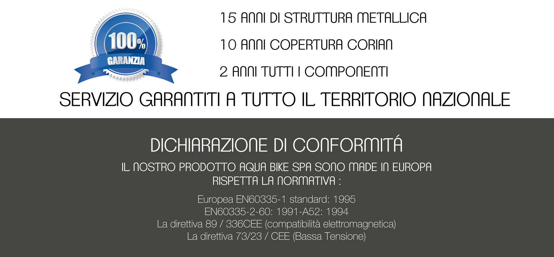Aqua Bike Spa - Garanzia