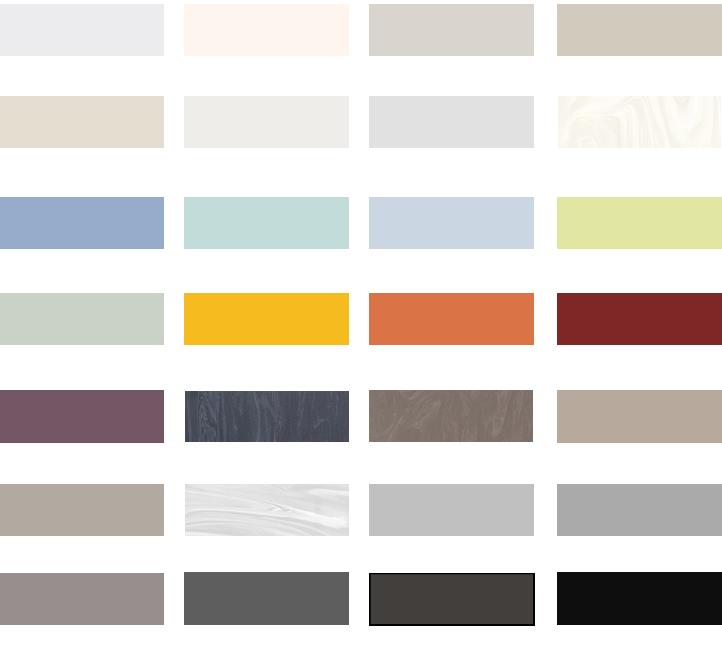 Colores fabricación Aqua Bike Spa